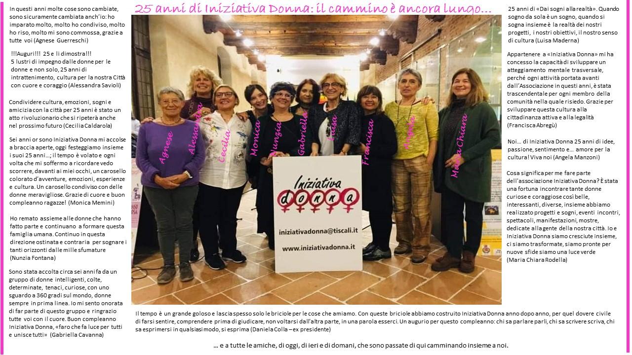 25 anni di Iniziativa Donna: il percorso è ancora lungo